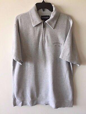 Pacific Knit Shirt (Ocean Pacific Knit Shirt Vintage 80s 90s OP Short Sleeve 1/2 Zip Gray Men's M)