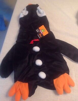Large Dog Halloween Top Paw Plush Penguin Hook & Loop Fastener NWT