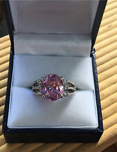 Pink Sapphire & Diamonds Gemstone Fashion Ring Women 14K White Gold Albury Albury Area Preview