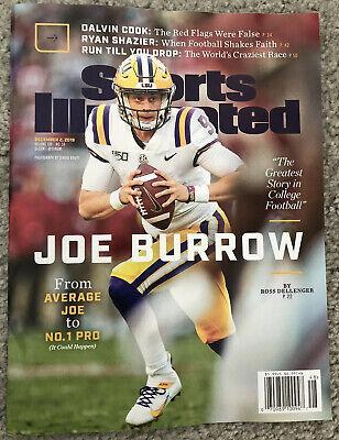 Sports Illustrated Magazine December 2019 - Joe Burrow LSU NEW - No Label