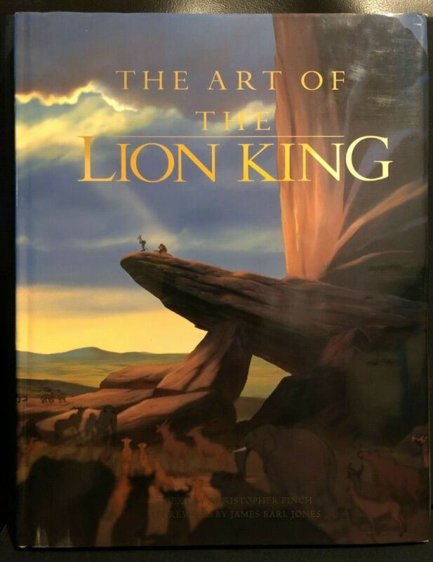 The Art of the Lion King 1994 Christopher Finch hardcover Disney animation book!