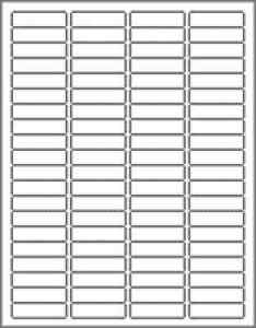 return address labels 80 per sheet