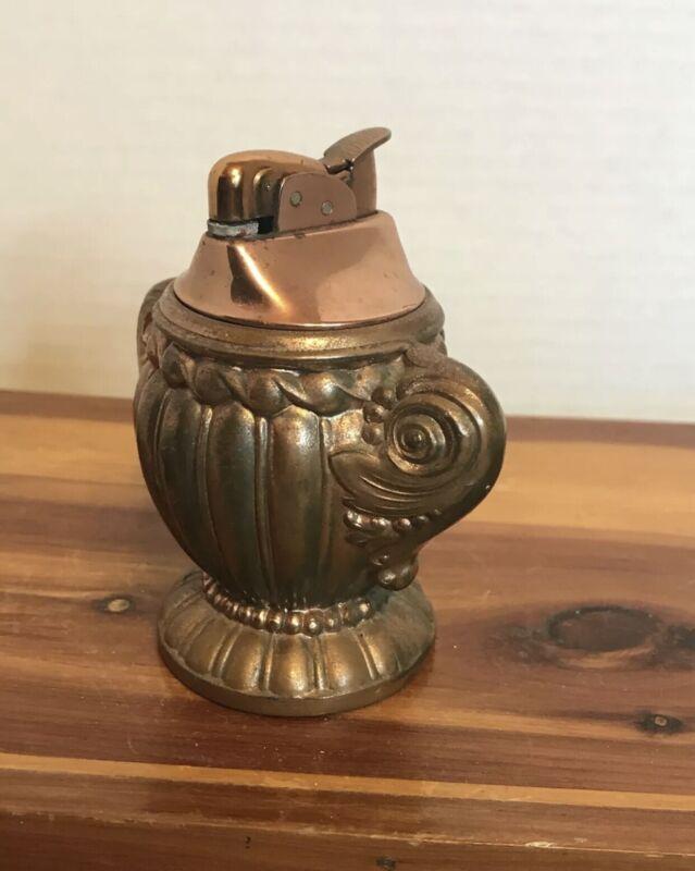 Vintage Copper Brass Evans Table Lighter
