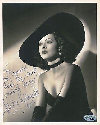 HEDY LAMARR vintage Autographed 8 X 10 Photo RP