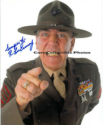 R. Lee Ermey Gunnery Sergeant Hartman autographed SIGNED 8x10 photo RP