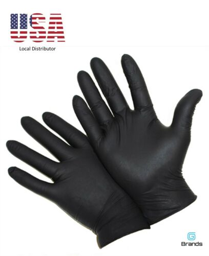 Disposable Nitrile Gloves - Industrial Black Powder Free - Small 100 pk 4 mil