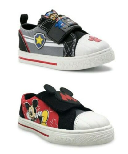 Paw Patrol, Mickey Mouse Toddler Boys Canvas Strap Athletic Sneakers Shoes: 7-12