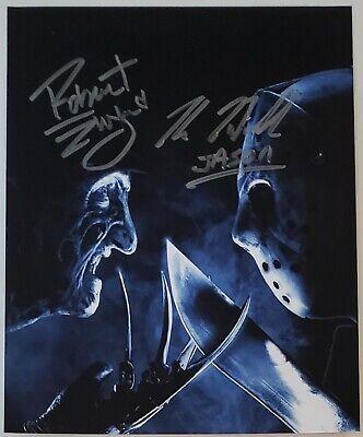 Robert Englund Kane Hodder - Hand Signed 8x10 - Autographed