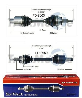 For Mercury Sable Ford Taurus SE GL LX Pair of Front CV Axle Shafts SurTrack Set