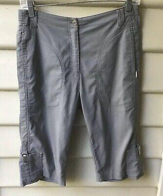 JAMIE SADOCK SZ US 4 AU 8 Grey Shorts Stretch Active Golf Zip Pockets NWOT Women