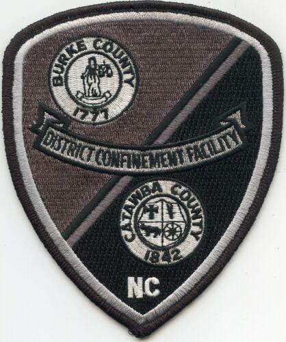 BURKE - CATAWBA COUNTY NORTH CAROLINA NC DOC CORRECTIONS sheriff police PATCH