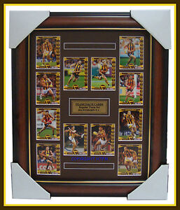 Hawthorn 2014 Limited Edition Teamcoach Cards Set Framed  Hodge, Rioli, Mitchell