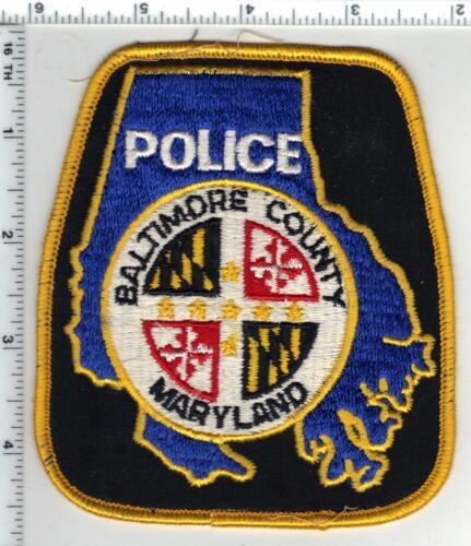 Baltimore County Police (Maryland) black back uniform take-off shoulder patch