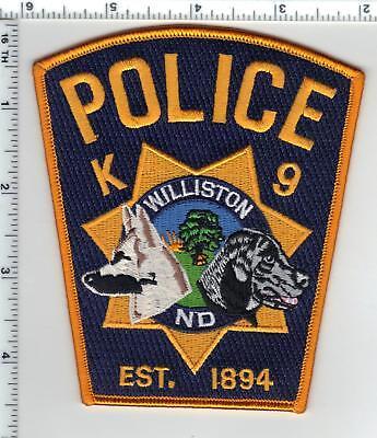Williston Police (North Dakota) K-9 Shoulder Patch - from the 1980's