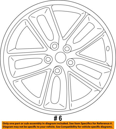 Dodge Chrysler Oem 16 18 Challenger Wheel Alloy Aluminum 5ld371xfaa