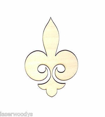 Regal Fleur De Lis Unfinished Wood Shape Cutout Rf4117 Crafts Lindahl Woodcrafts