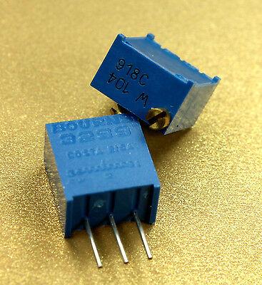 Bourns 3299w-1-104 100k Ohms .5 Watts 25 Turns Trimmer Potentiometer Pcb