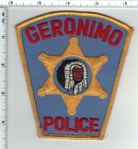 Geronimo Police (Oklahoma) Shoulder Patch - from a wall display