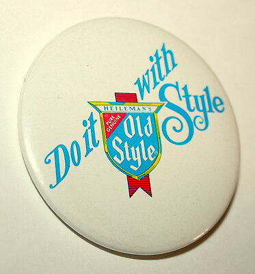 Vintage Do It Heileman's Pure Genuine Old Style Beer Pin Button NOS New 1970s