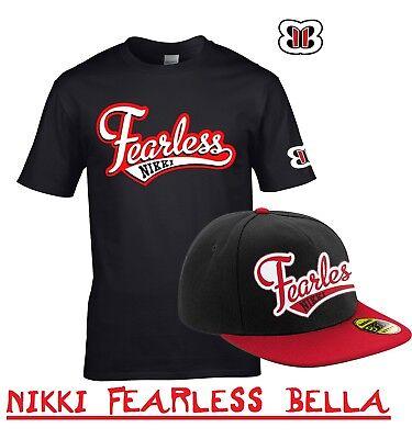 NIKKI 'FEARLESS' BELLA WRESTLING WRESTLER OUTFIT FANCY DRESS T-SHIRT & CAP  ()