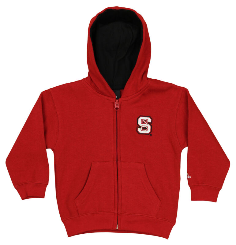 Outerstuff NCAA Toddlers North Carolina State Wolfpack Full Zip Hoodie, Red