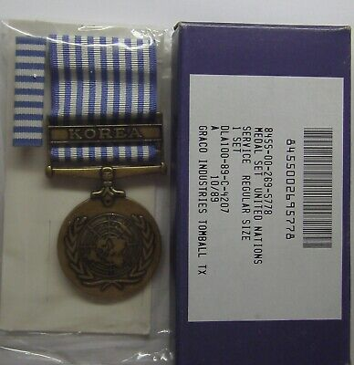 United Nations Korean Service Military Medal Set in GI Issue in Box