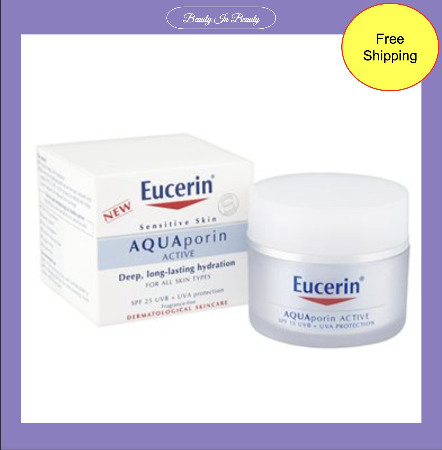 EUCERIN AQUAporin ACTIVE Day Cream SPF25 UVA Long-Lasting Hy