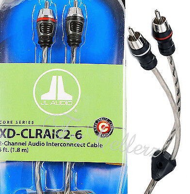 JL AUDIO XD-CLRAIC2-6 2-Channel RCA 6-Foot Cable 6FT Audio Interconnect ** NEW *