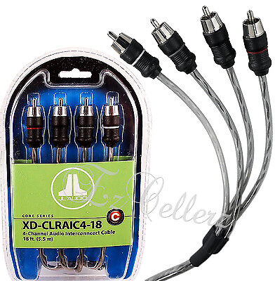 JL AUDIO XD-CLRAIC4-18 4-CHANNEL 18 FEET RCA CABLE FLEX QUAD TWISTED BRAND NEW