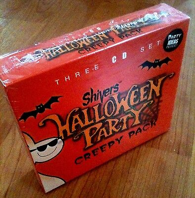 Shivers HALLOWEEN PARTY: CREEPY PACK: MUSIC, SOUNDS & STORIES (3-CD BOX SET) - Creepy Children Halloween Music
