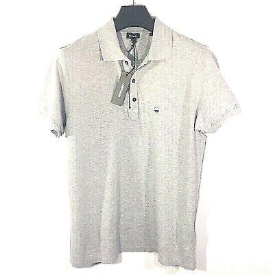 DIESEL Mens T Kalanit Zipper Button Short Sleeve Gray Polo Shirt (MSRP $128)