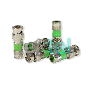 20-Lot-BNC-Compression-Type-Connector-75-Ohm-coax-coaxial-RG59-cctv-Pack-of-20