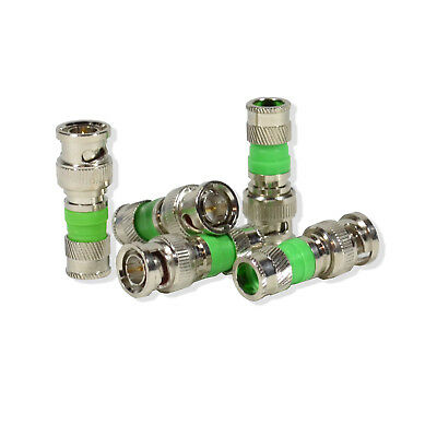 50x BNC Compression Connector Adapter for RG59 Coax Cable CCTV Camera