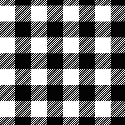 (BTY* NEW*BLACK & WHITE BUFFALO CHECK 1