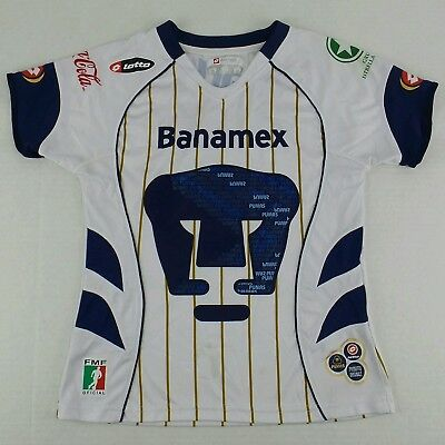 Vintage Lotto 2007-2008 Home Pumas UNAM Soccer Jersey Size Womens Small S image