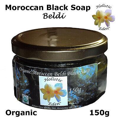 ORGANIC Moroccan Beldi Black Soap Premium Grade Savon Noir 150g Glass Jar