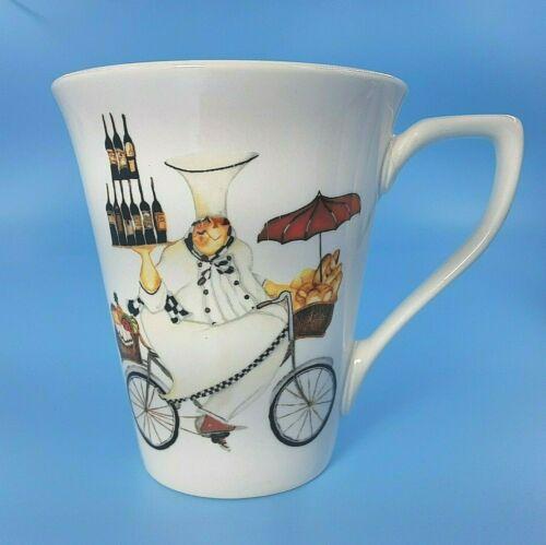 """Oneida Stoneware Mug """"Chefs To Go"""" Art In Motion-Jennifer Garant 12oz Coffee Cup"""