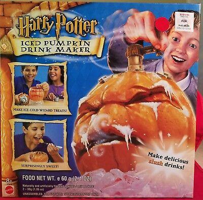 HARRY POTTER PARTY  ICED PUMPKIN DRINK MAKER MATTEL MAKE DELICIOUS DRINKS MIB