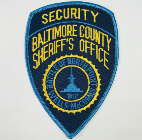 Baltimore County Sheriff Security Maryland Patch (MD-A2)