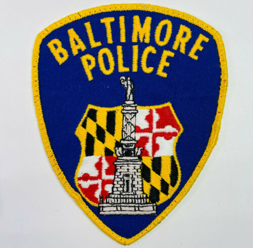 Baltimore City Police Maryland MD Patch (A3-H)