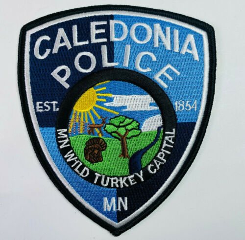 Caledonia Police Houston County Minnesota MN Wild Turkey Capital Patch (A2)