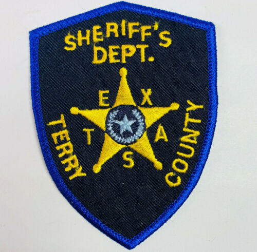 """Terry County Sheriff Texas TX Patch 3.75"""" A8"""