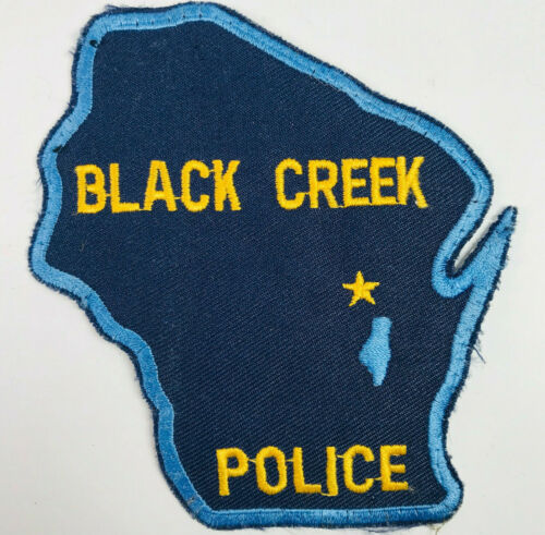 Black Creek Police Wisconsin Patch