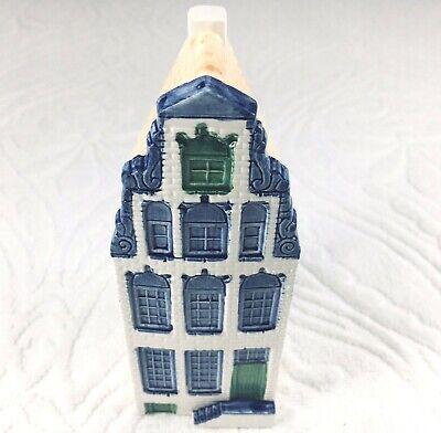 Delftware Handwork House Building Designed by Elesva Holland Blue White Green