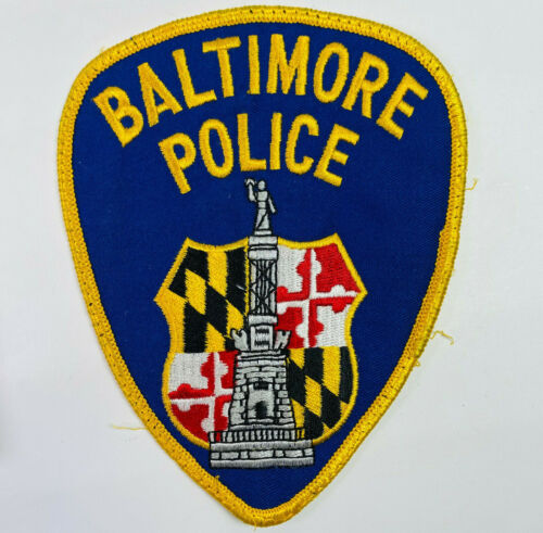 Baltimore City Police Maryland MD Patch (A3-M)
