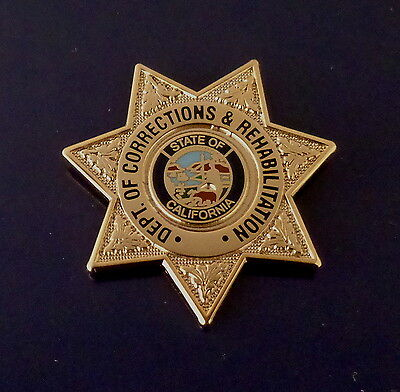 CDCR California Dept of Corrections & Rehabilitation mini badge Lapel Pin CA