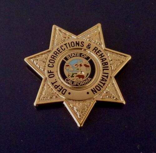 CDCR California Dept of Corrections & Rehabilitation mini badge Lapel Pin CA