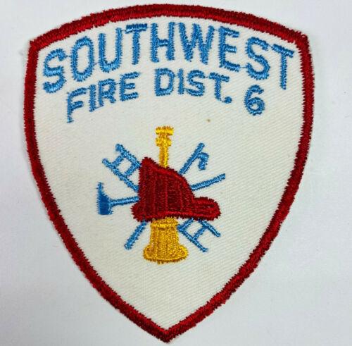Southwest Fire District 6 Washington WA Patch K2