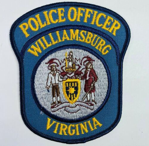 Williamsburg Police Officer Virginia VA Patch (C1)