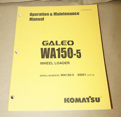 2004 Komatsu Wa150 Wheel Loader Operation Maintenance Manual Pn Seam058302t